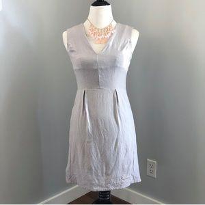 Diane Von Furstenberg Sleeveless Gray Linen Dress